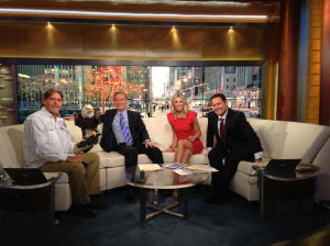 Visiting Fox & Friends in NYC
