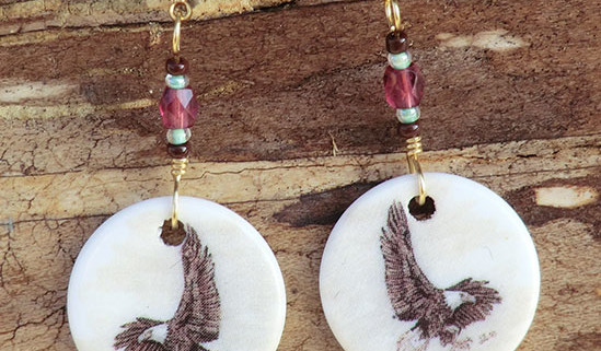 Handpainted porcelain earrings