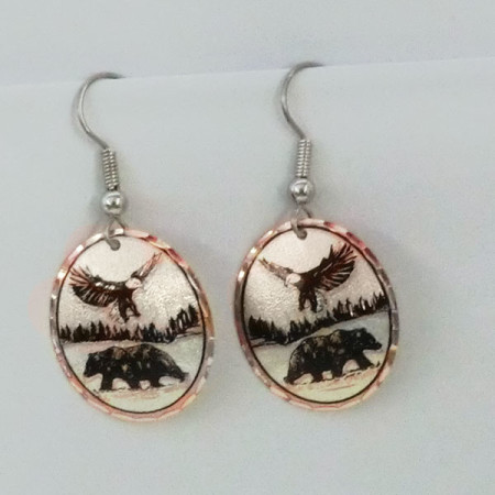 Eagle and Bear Earrings