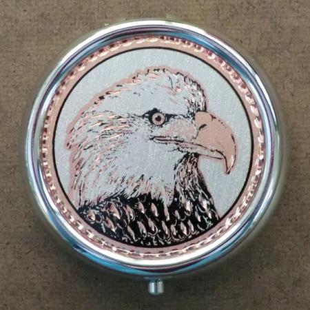 Eagle portrait pill box