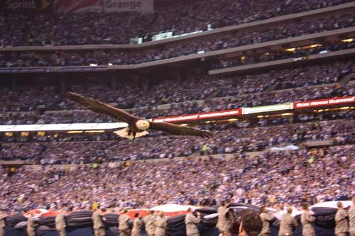 Challenger during National Anthem