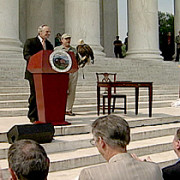 Ceremony at the Jefferson Memorial