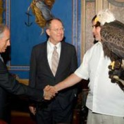 Senators Bob Corker & Lamar Alexander with Al Cecere and Bald Eagle Challenger