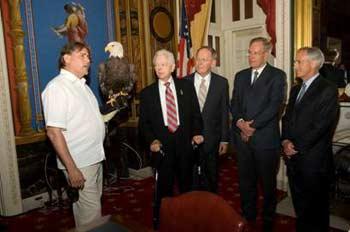 Al Cecere, Challenger, Senator Robert Byrd (D-WV), Senator Lamar Alexander, Senator Wayne Allard (R-CO) and Senator Bob Corker.