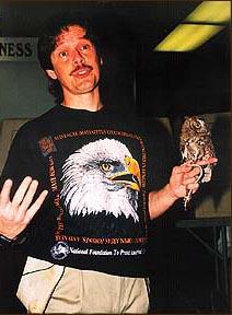 John Stokes with Owl-X