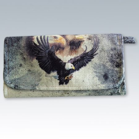 canvas wallet with eagle
