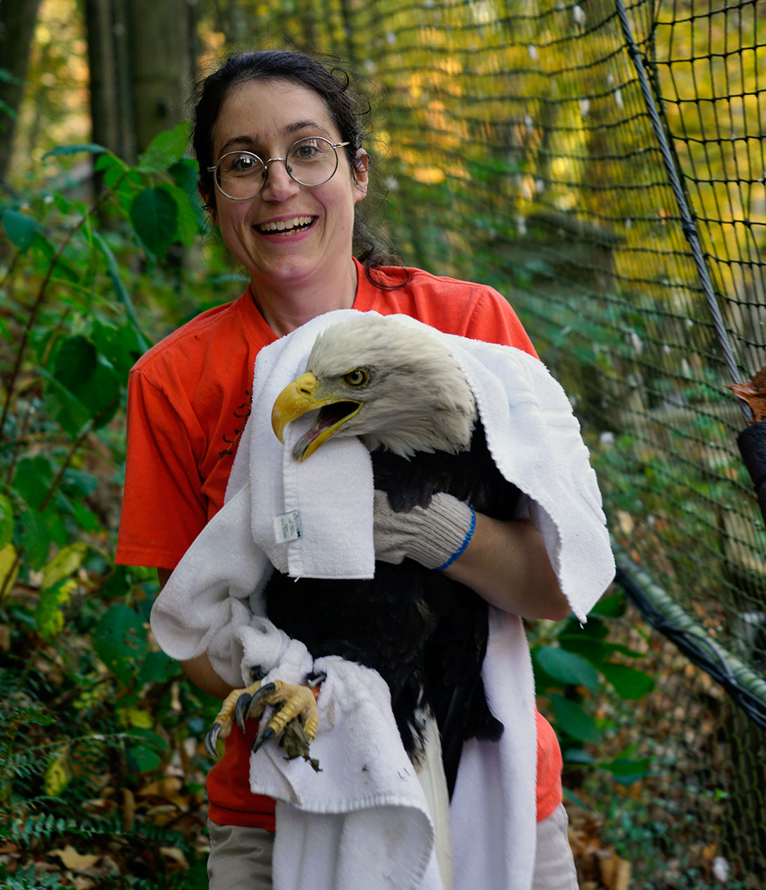 Fall 2016 Cleanup - Beth with Eagle