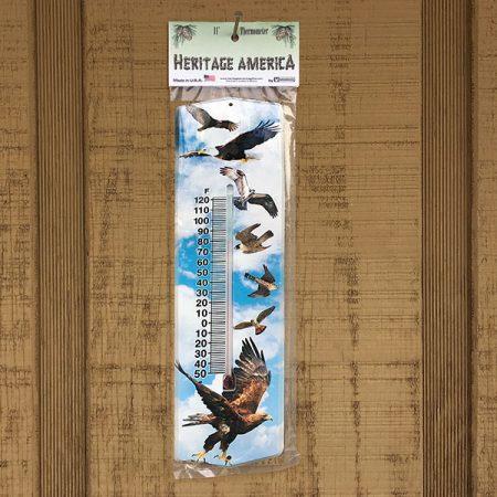 mi-244 Birds of Prey Outdoor Thermometer
