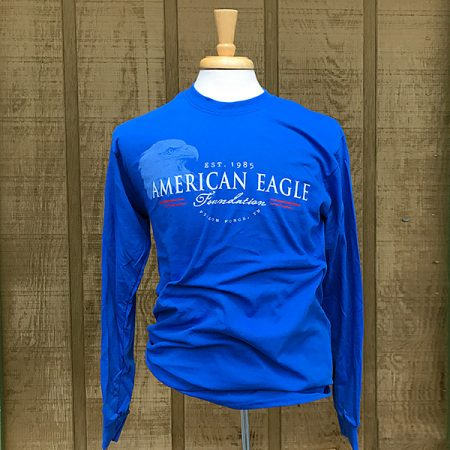 AEF long-sleeved blue tee