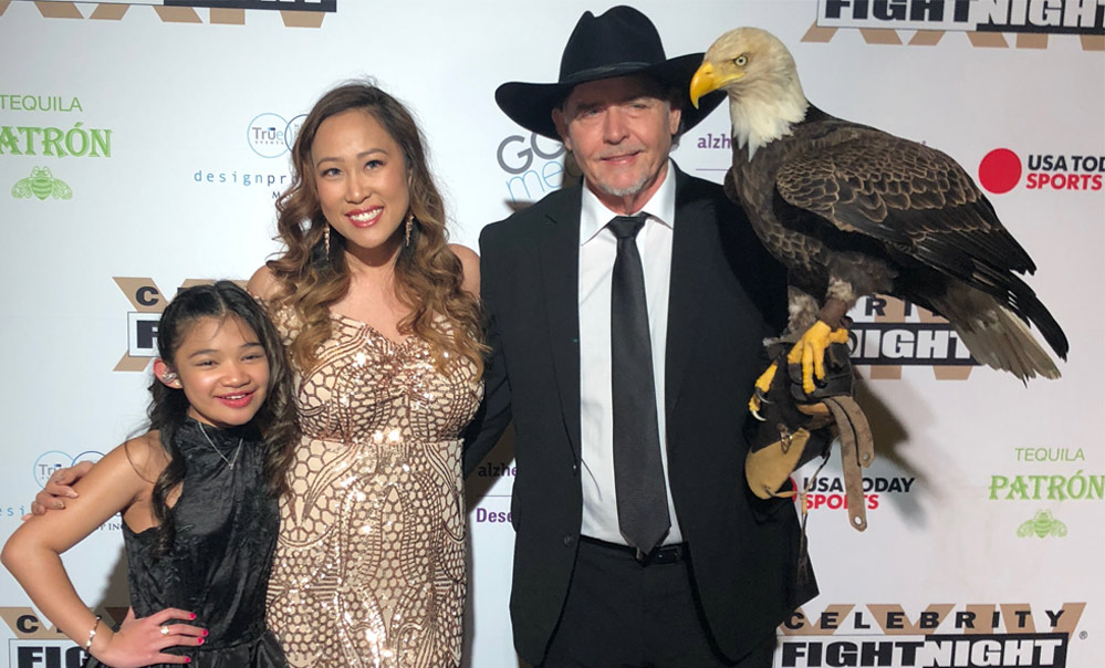 Nhi and Al Cecere with Bald Eagle Challenger and America's Got Talent singer, 10-year-old Angelica Hale.