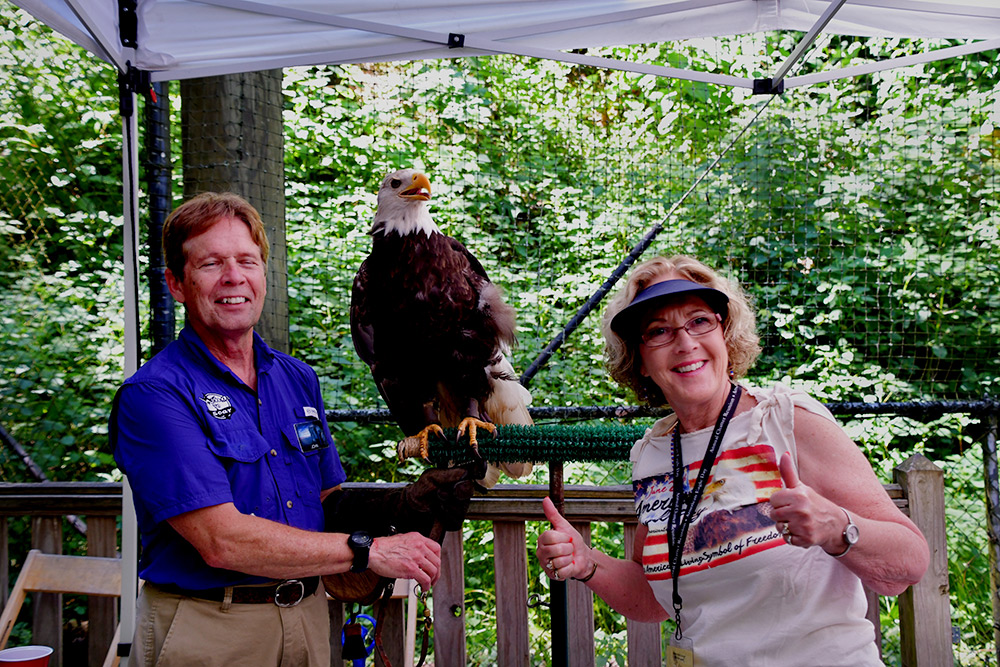 A meet-and-greet with John Stokes and Bald Eagle Osceola.