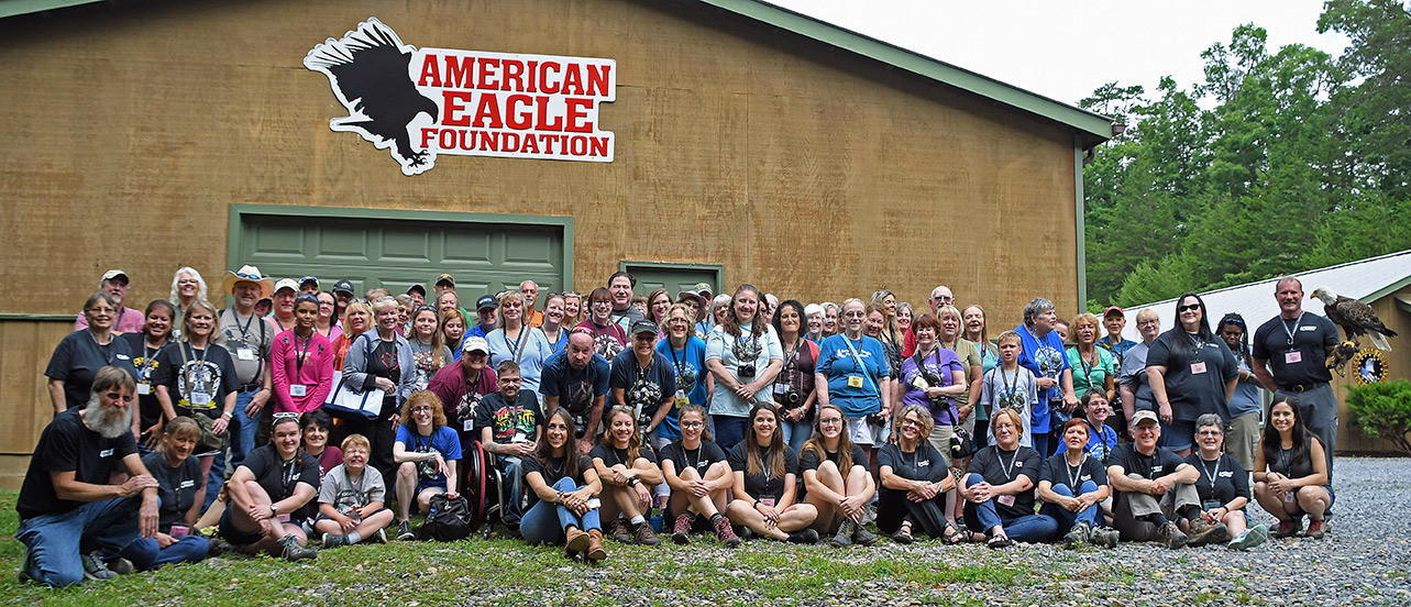 The 2018 Chatters gathered in front of the barn for a photo op before taking a fantastic tour of the AEF facilities!