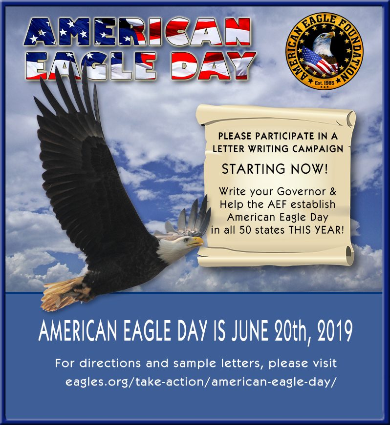 June 20, 2019 is American Eagle Day – American Eagle Foundation