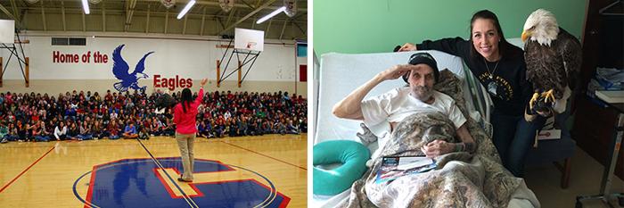 Visiting schools and VA Hospitals